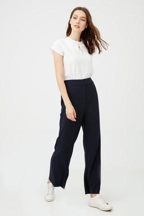 Ekol Kadın Lacivert Beli Lastikli Bol Paça Pantolon