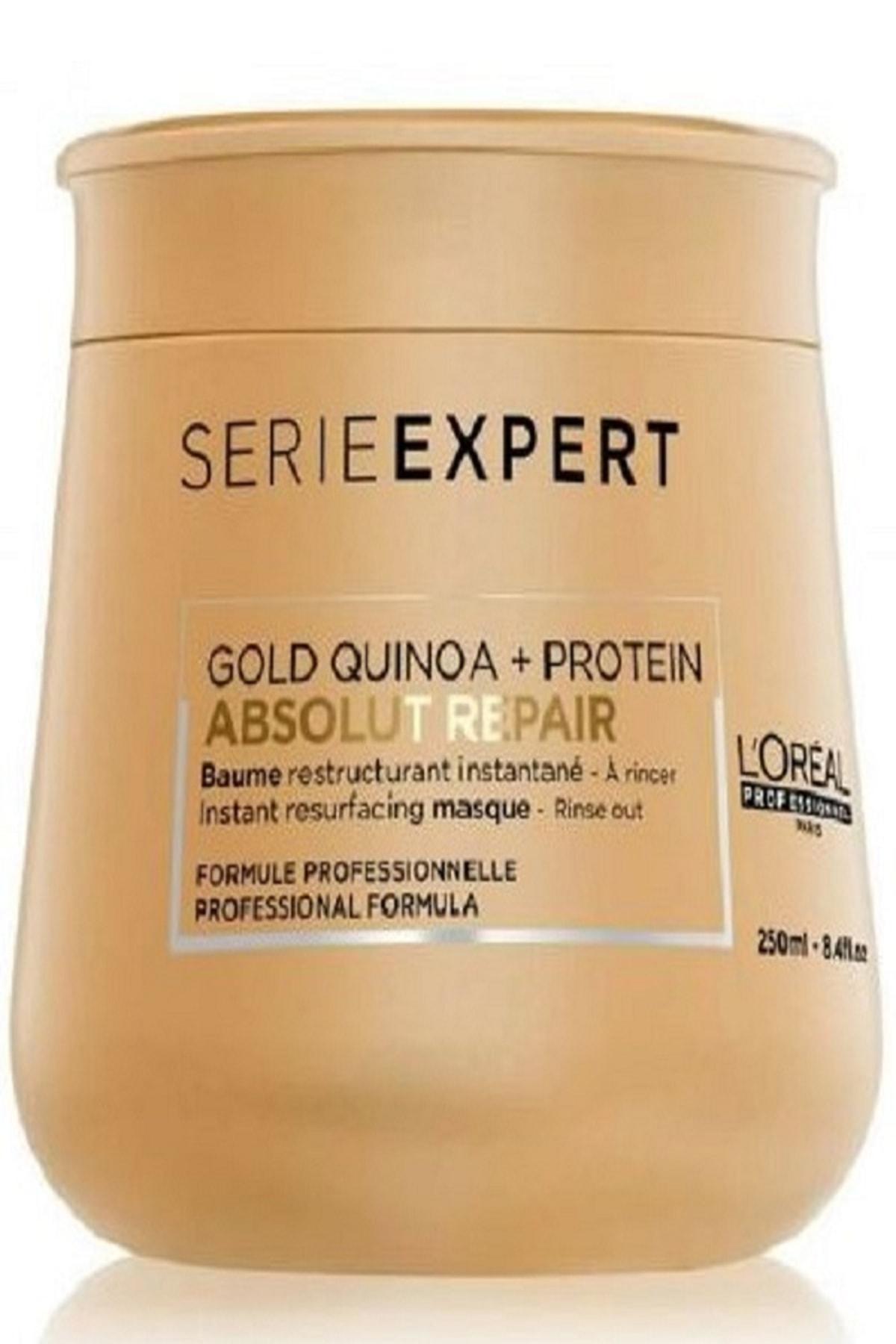 L'oreal Professionnel Yıpranmış Saçlar için Onarıcı Maske 250 ml - Absolut Repair Gold Quinoa+Protein Masque 3474636481774 1