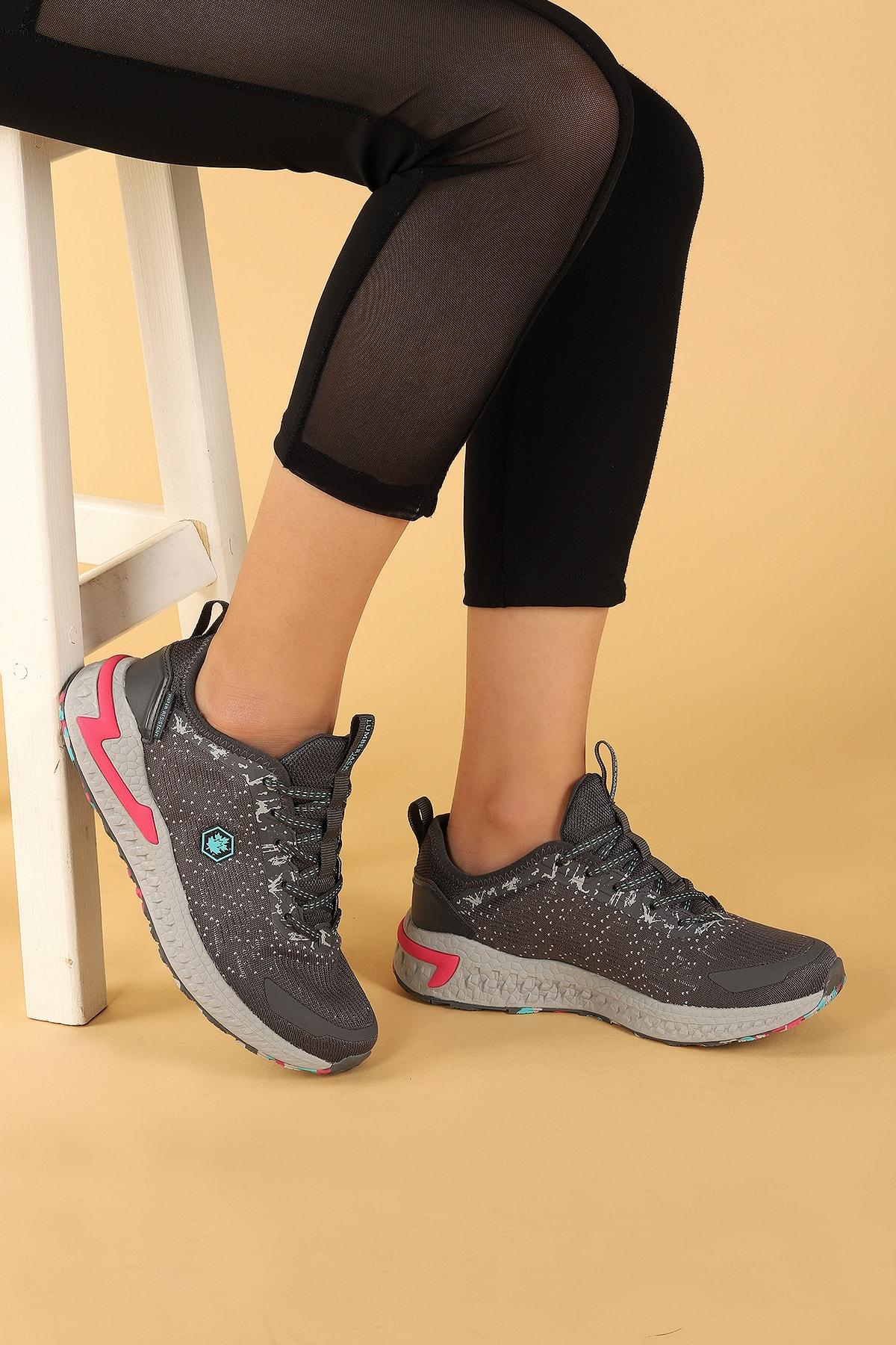 lumberjack Ocean Günlük Suya Dayanıklı Kadın Gri Spor Ayakkabı 2