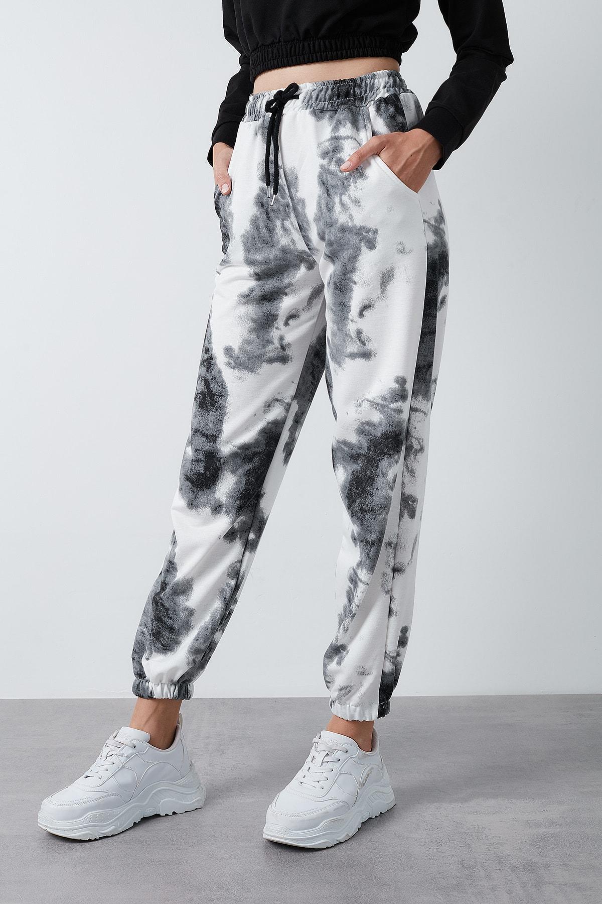 Lela Kadın Siyah Belden Bağlamalı Cepli Paçası Lastikli Pantolon 2