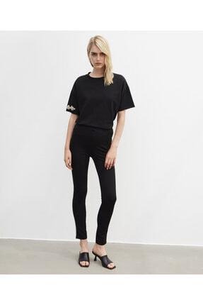 İpekyol Kadın Siyah Taş Şeritli Pantolon