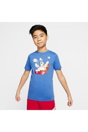 Nike Erkek Çocuk Mavi Spor T-Shirt Cv2163-402