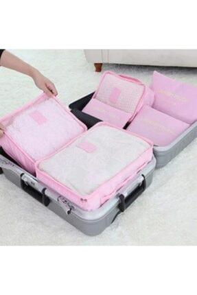 Ricardo Pembe Valiz Bavul Içi Düzenleyici Organizer 6'lı Set