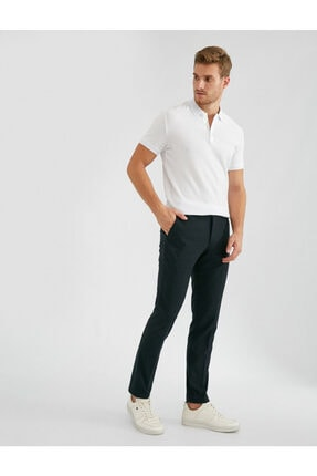 Koton Erkek Kareli Slim Chino Pantolon