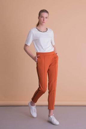 xGIZIA Kadın  Kiremit Şerit Detaylı Spor Pantolon