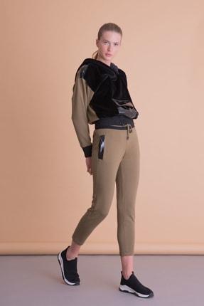 xGIZIA Kadın Haki Dar Parça Spor Pantolon