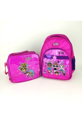 Dönmezler Lol Bebek Okul Çantası Set-çanta-beslenme- Pembe Set