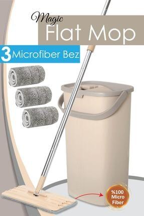 Meleni Home Professional Magic Flat Mop 3 Bezli Mikrofiber Temizlik Seti