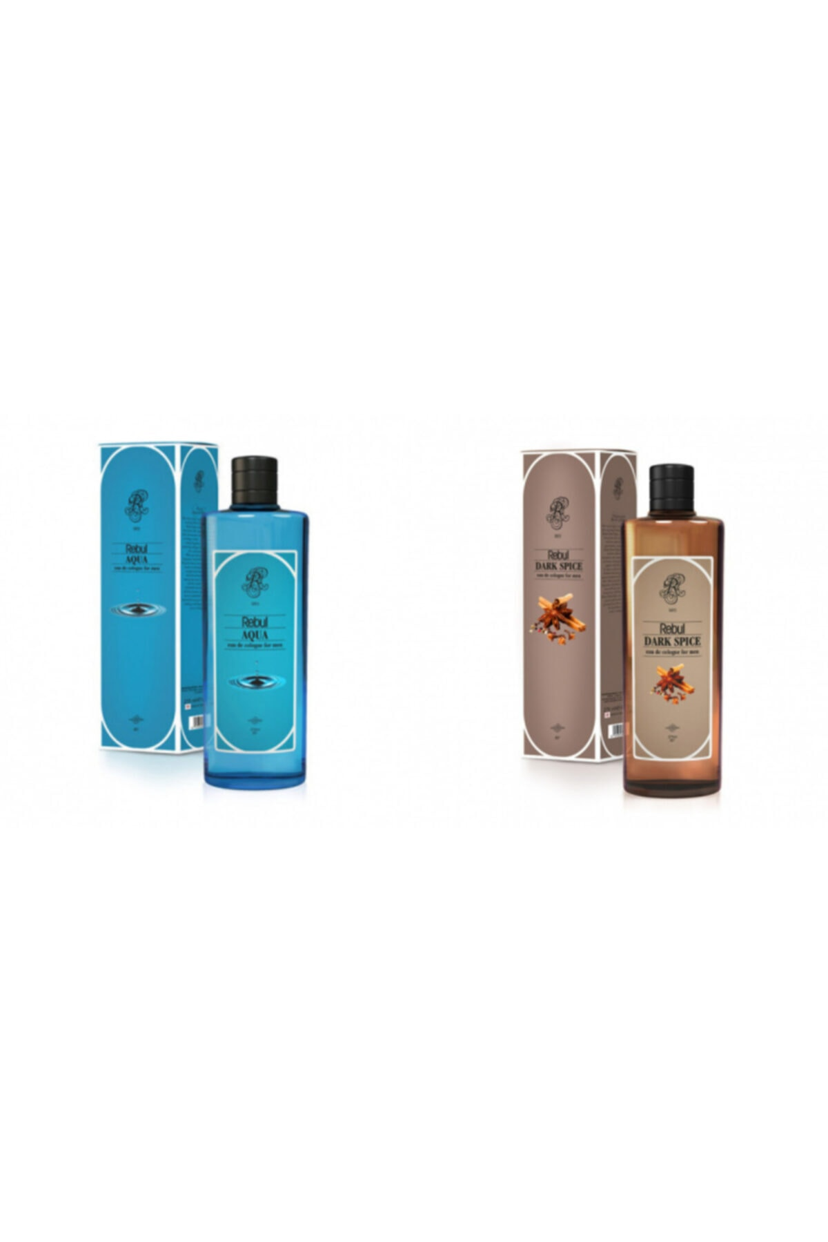 Rebul Aqua + Dark Spice 270 Ml Cam Şişe Set 1