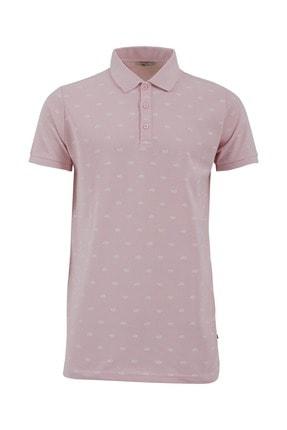 Ltb Erkek  Pembe Polo Yaka T-Shirt 012208426860890000