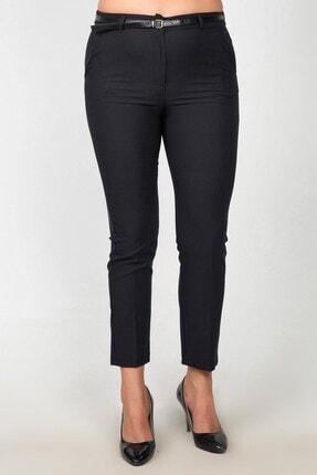 Womenice Kadın Siyah Yüksek Bel Klasik Kumaş Büyük Beden Pantolon