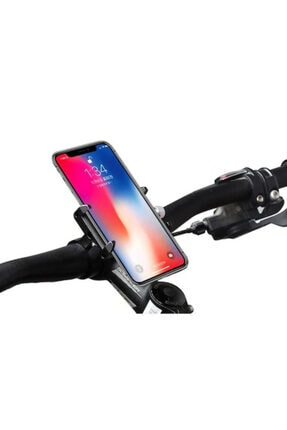 Kakusan Siyah Bisiklet Motorsiklet Gidon Kaydırmaz Metal Vidalı Telefon Tutucu