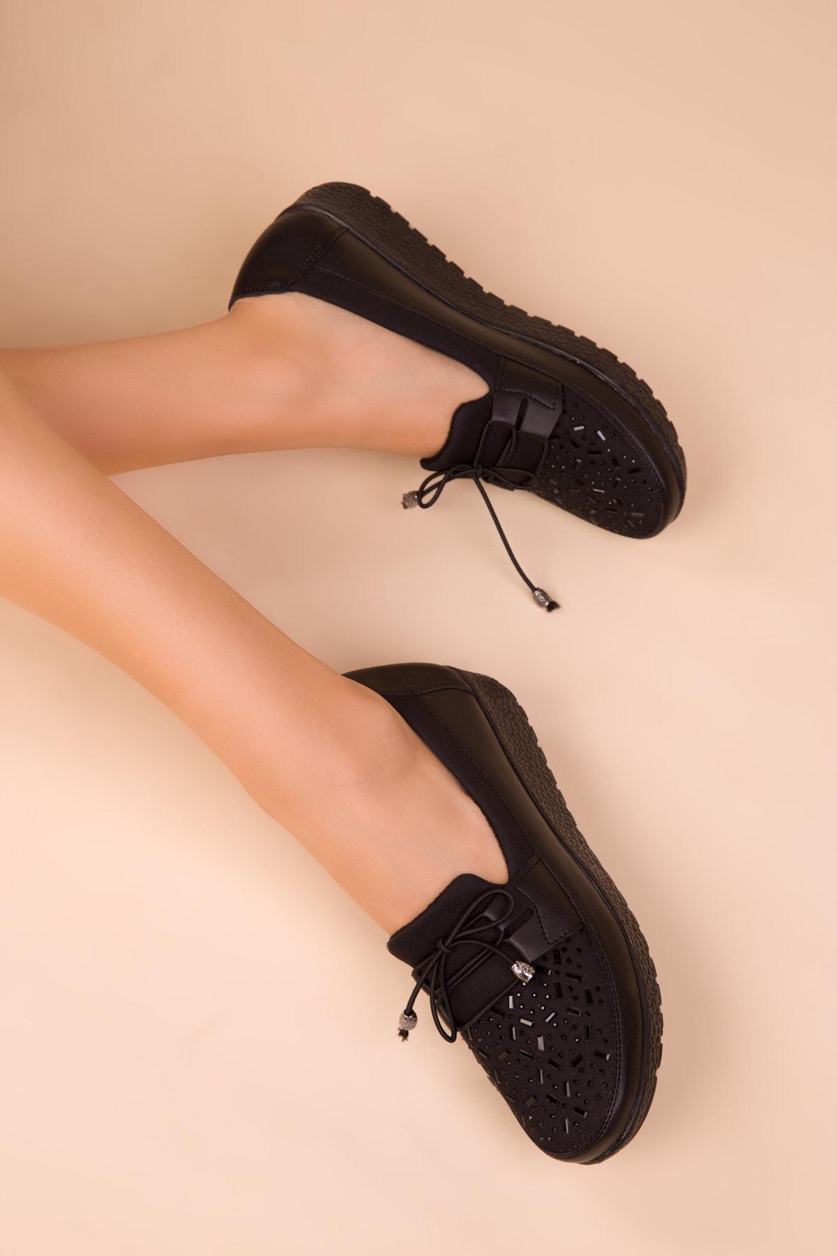 SOHO Siyah Kadın Casual Ayakkabı 15429 1