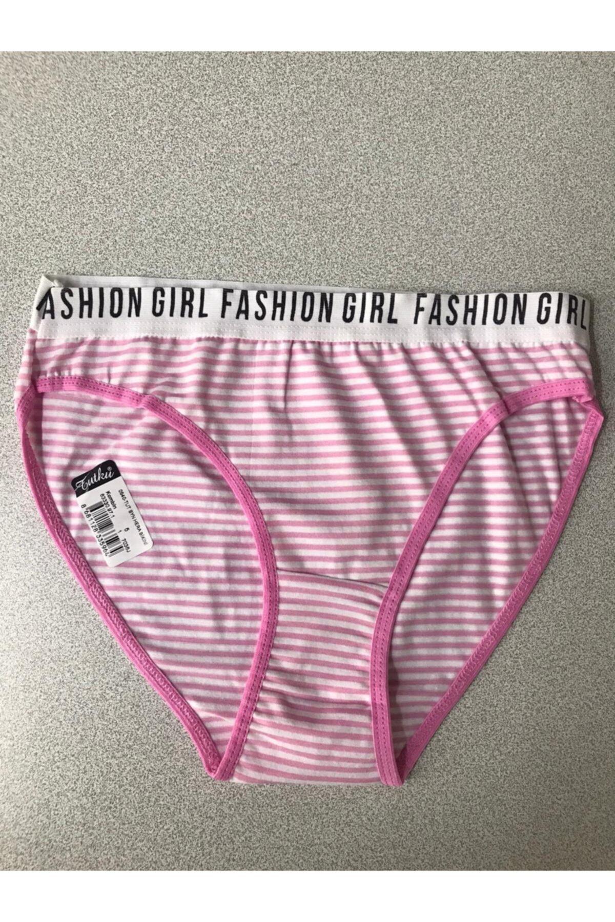 Tutku 12'li Paket Bayan Kadın Desenli Bikini Külot Asorti Kilot 2