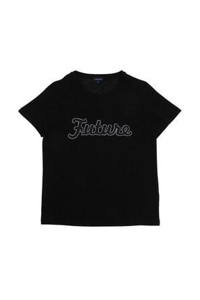 Fabrika Kadın Siyah T-Shirt 504529509