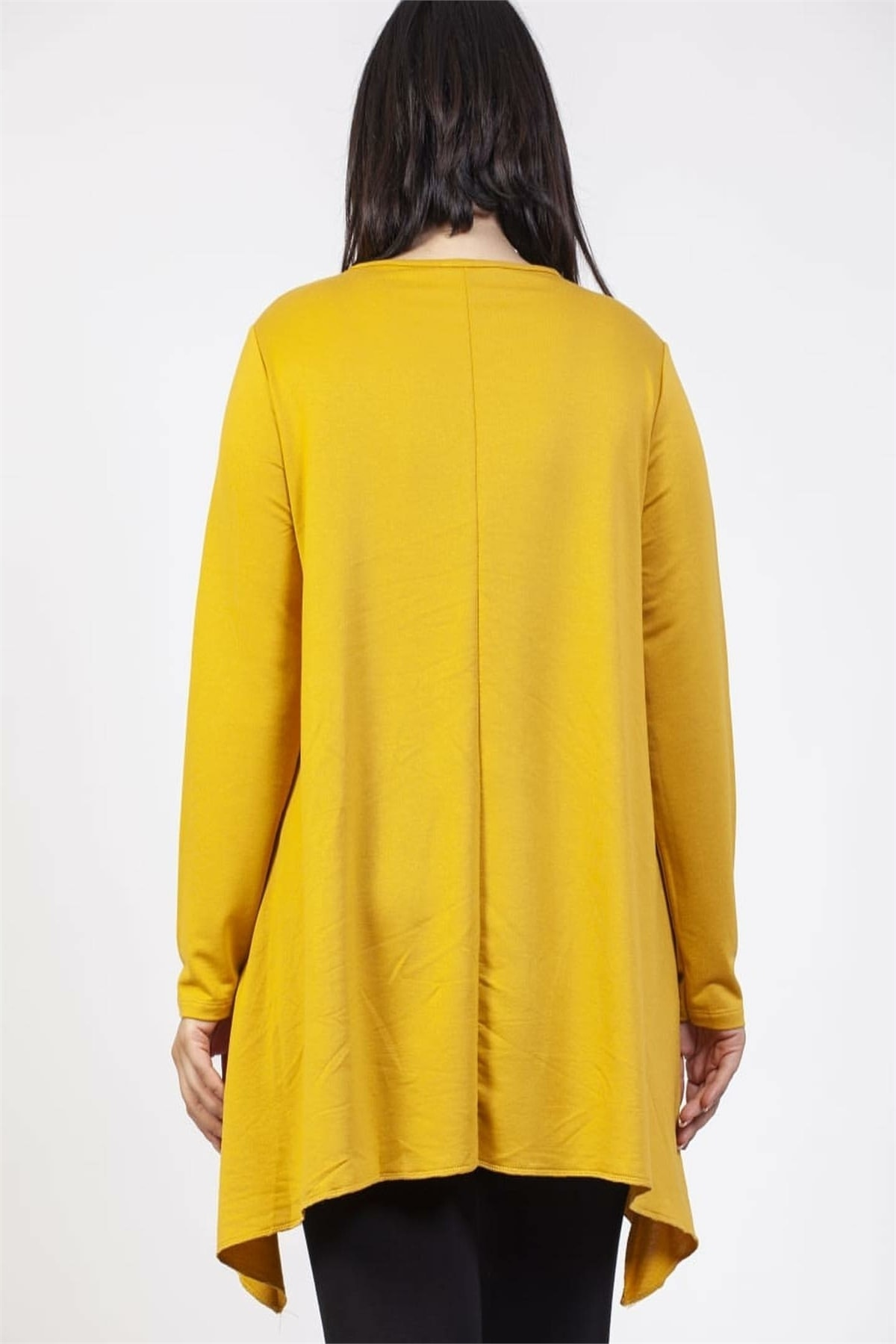 SİZ Kadın Sarı Eteği Tasarım Renkli Tunik 2