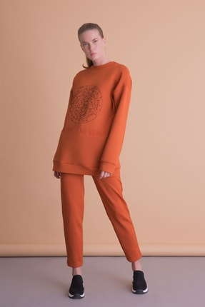 xGIZIA Kadın Turuncu Spor Pantolon