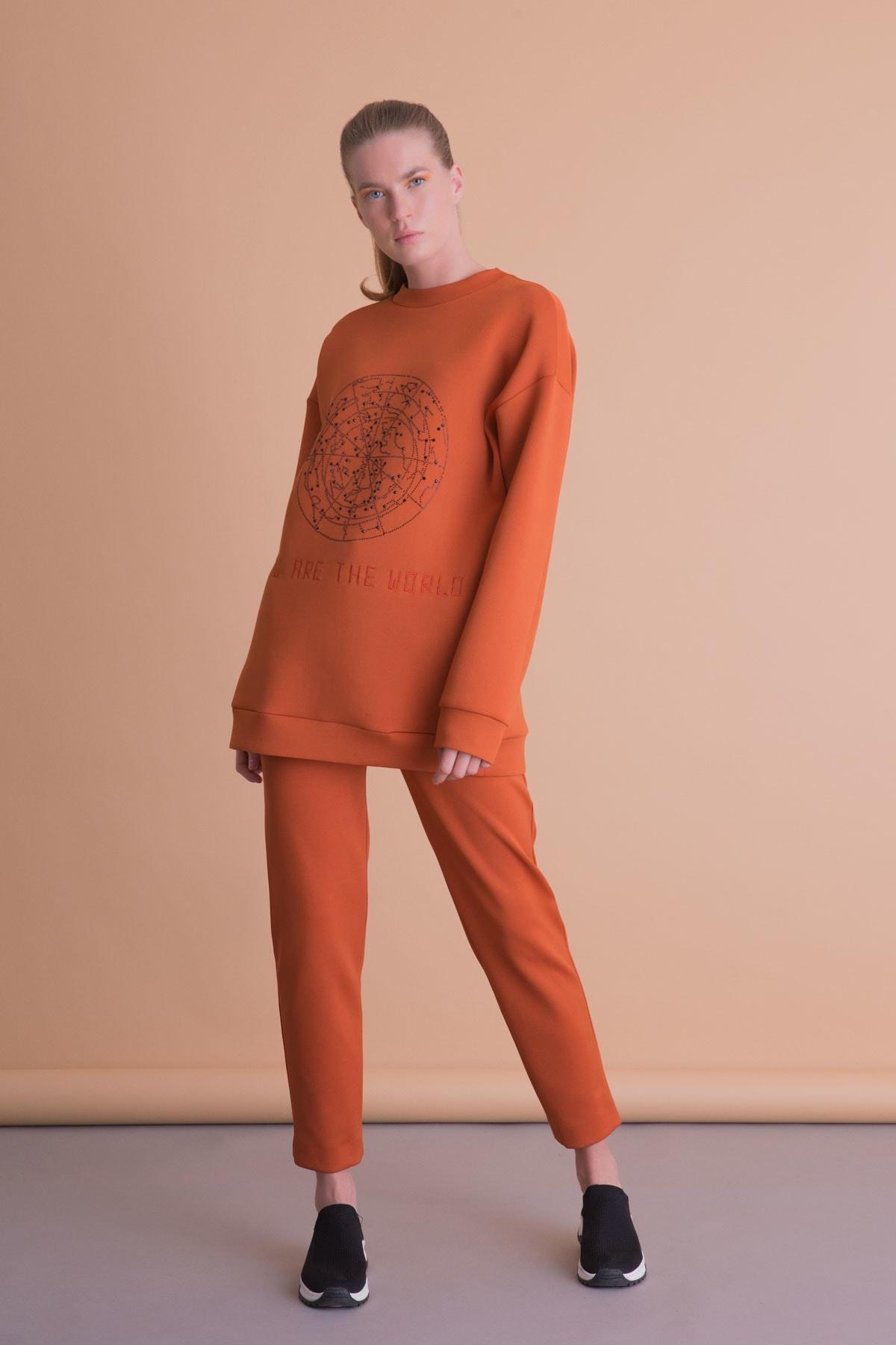 xGIZIA Kadın Turuncu Spor Pantolon 1