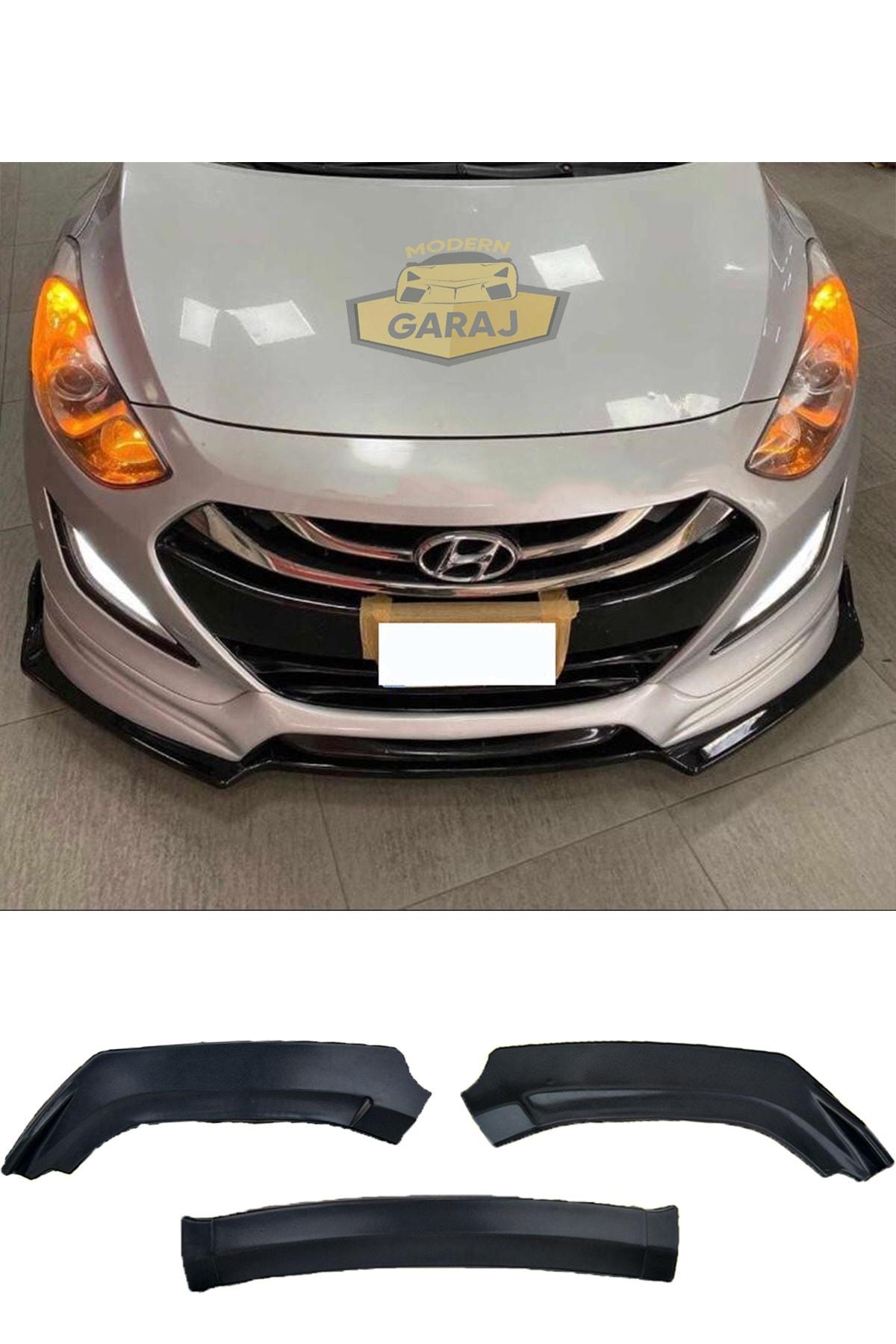 Modern Garaj Hyundai I30 Ön Tampon Eki I30 3 Parça Kanatlı Lip Hyundai I30 Ön Ek 1