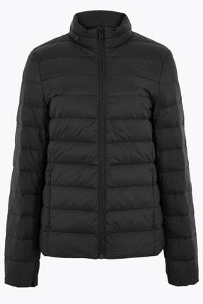 Marks & Spencer Kadın Siyah Hafif Kaz Tüyü (Down ve Feather) Mont T49004179