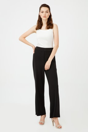 Ekol Kadın Beli Lastikli Bol Paça Pantolon