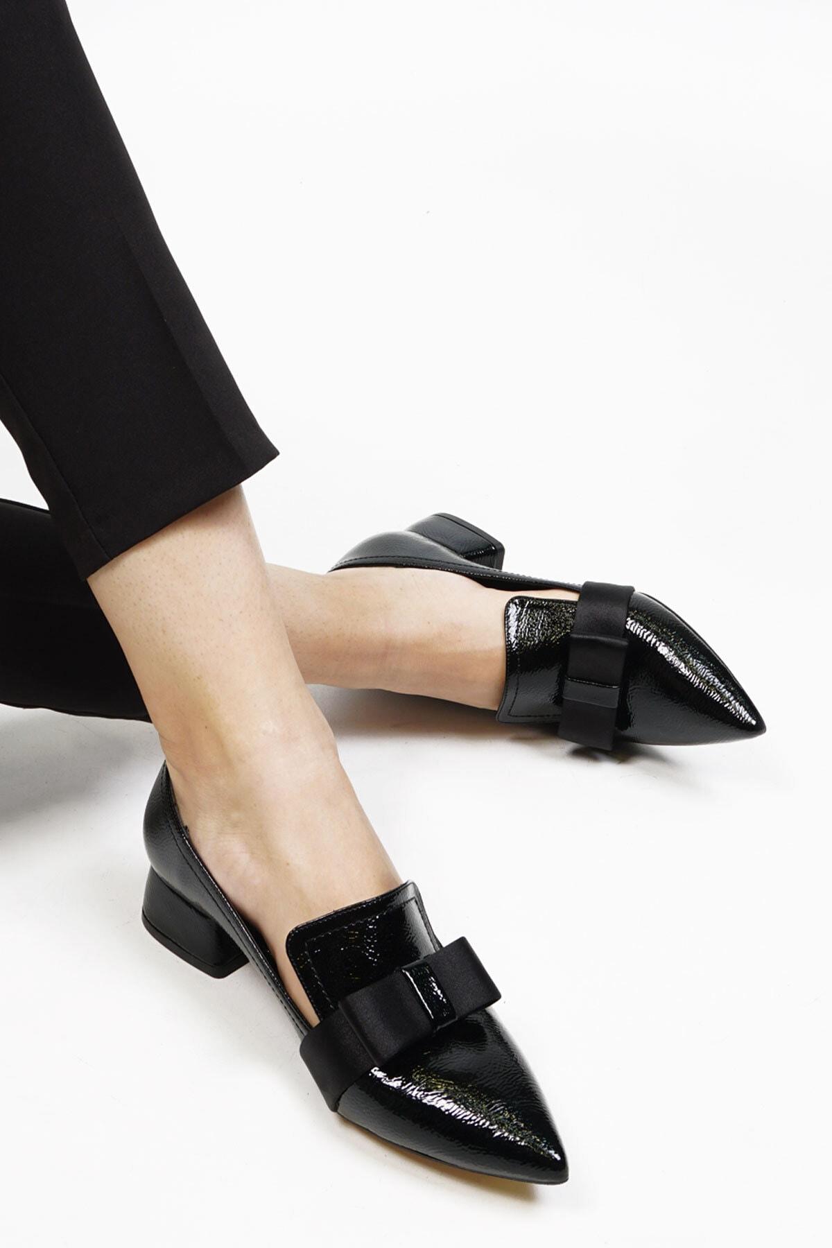 Marjin Siyah Rugan Siyah Rugan Kadın Aros Topuklu Ayakkabı 20Y0016Ls804