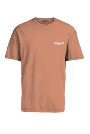 Jack & Jones Kadın Turuncu Bisiklet Yaka T-shirt 12189118