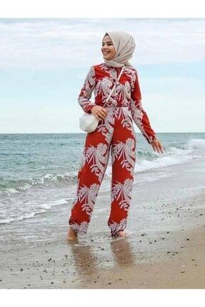moda gülşen Kadın Kırmızı  Tulum