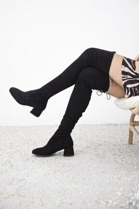 STRASWANS Thomas Bayan Streç Çorap Çizme Siyah