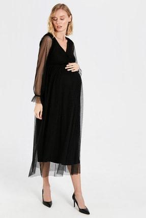 LC Waikiki Kadın Siyah Elbise 9WU055Z8
