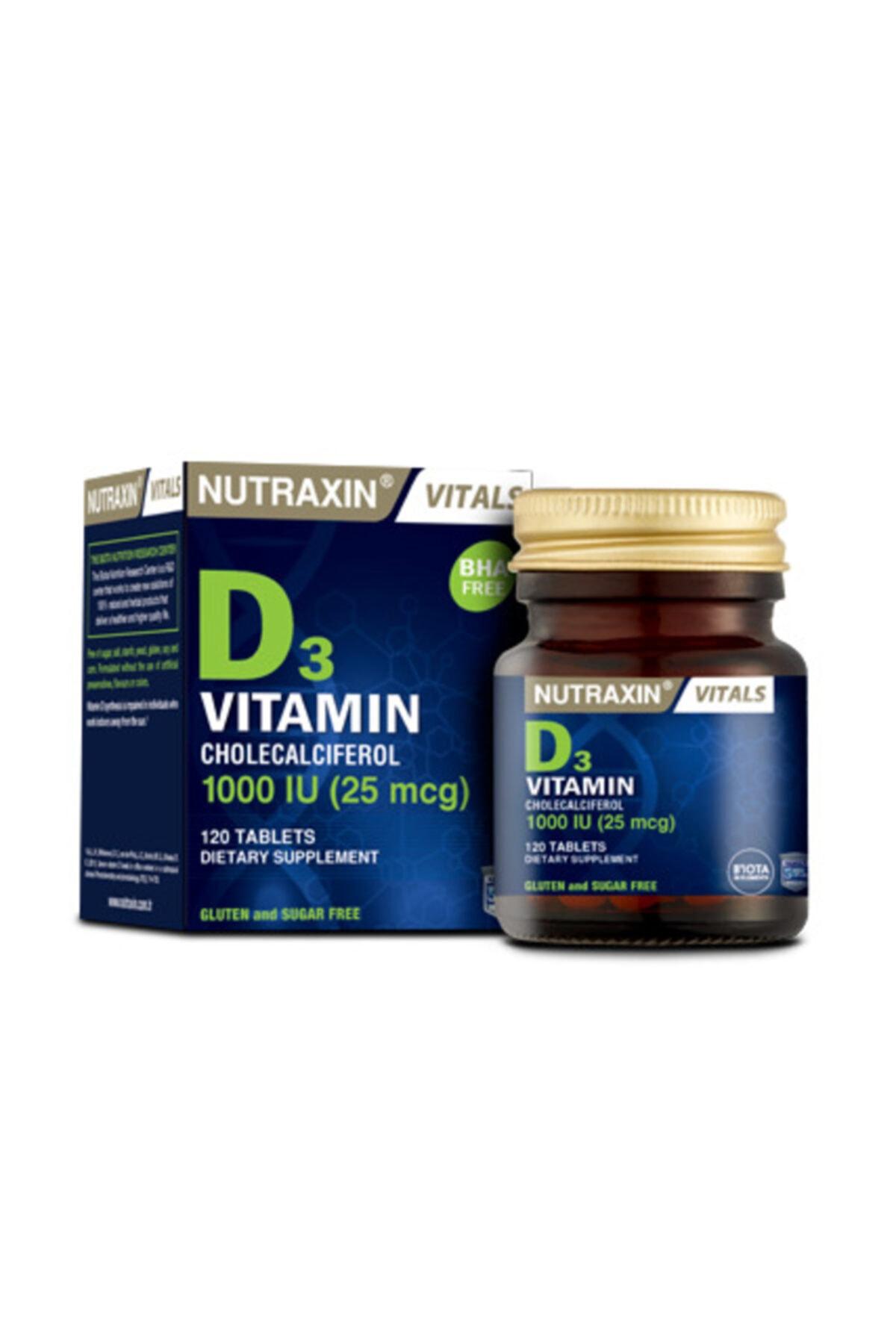 Nutraxin Yetişkinler Için Magnezyum Takviyesi 60 Tablet ve Vitamin D3 1000li 120 Tablet 2