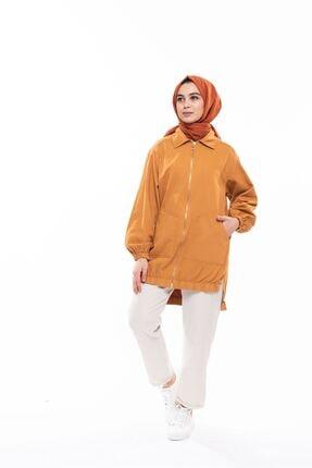 Magazin Kadın Kot Fermuarlı Ceket