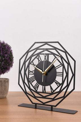 Muyika Design Muyika Repido Siyah Metal Masa Üstü Saati 25x23 cm