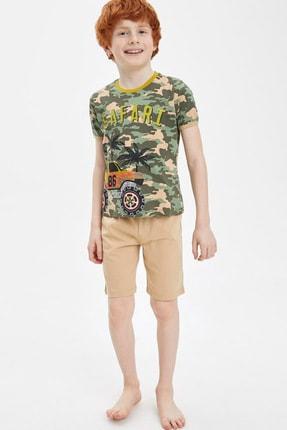 DeFacto Erkek Çocuk Safari Şort Tişört Takım