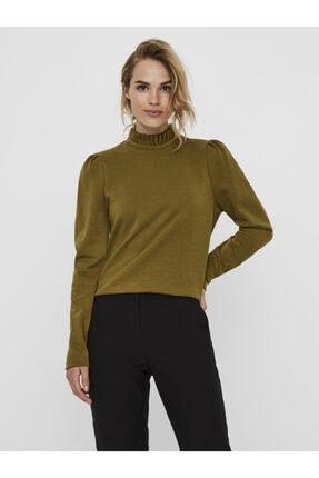 Vero Moda Kadın Yeşil Yaka Detaylı Sweatshirt 10206533 VMFOREST