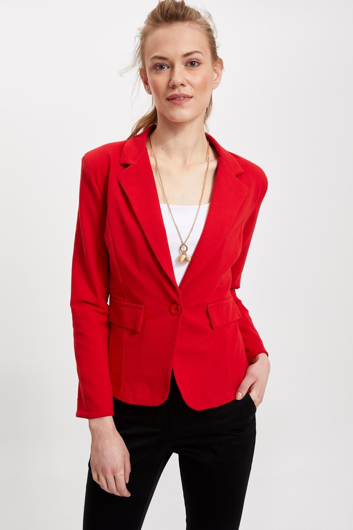 DeFacto Kadın Blazer Ceket L1969AZ.19SM.RD275