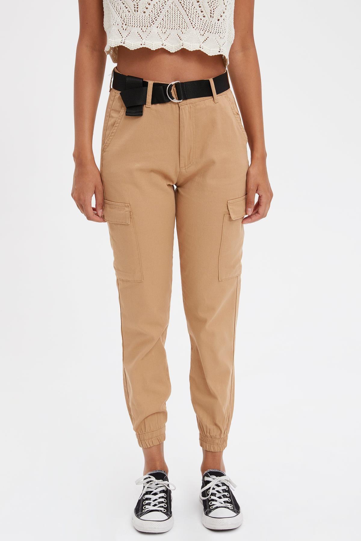 DeFacto Kadın Kahverengi Jogger Pantolon L6284AZ.19SM.BN164 2