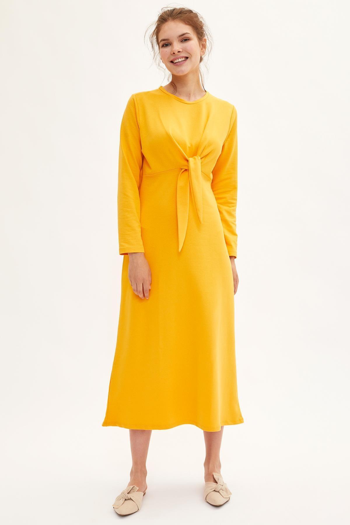 DeFacto Modest Bağlama Detaylı Örme Elbise