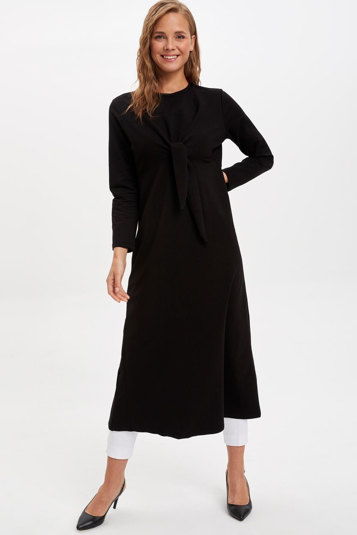 DeFacto Bağlama Detaylı Örme Elbise