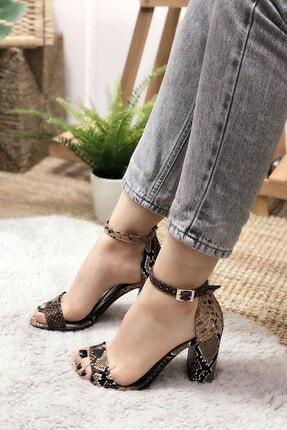 DİVOLYA Kadın Kahverengi Günlük Yazlık Sandalet