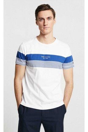 Tommy Hilfiger Block Striped Erkek Tshirt