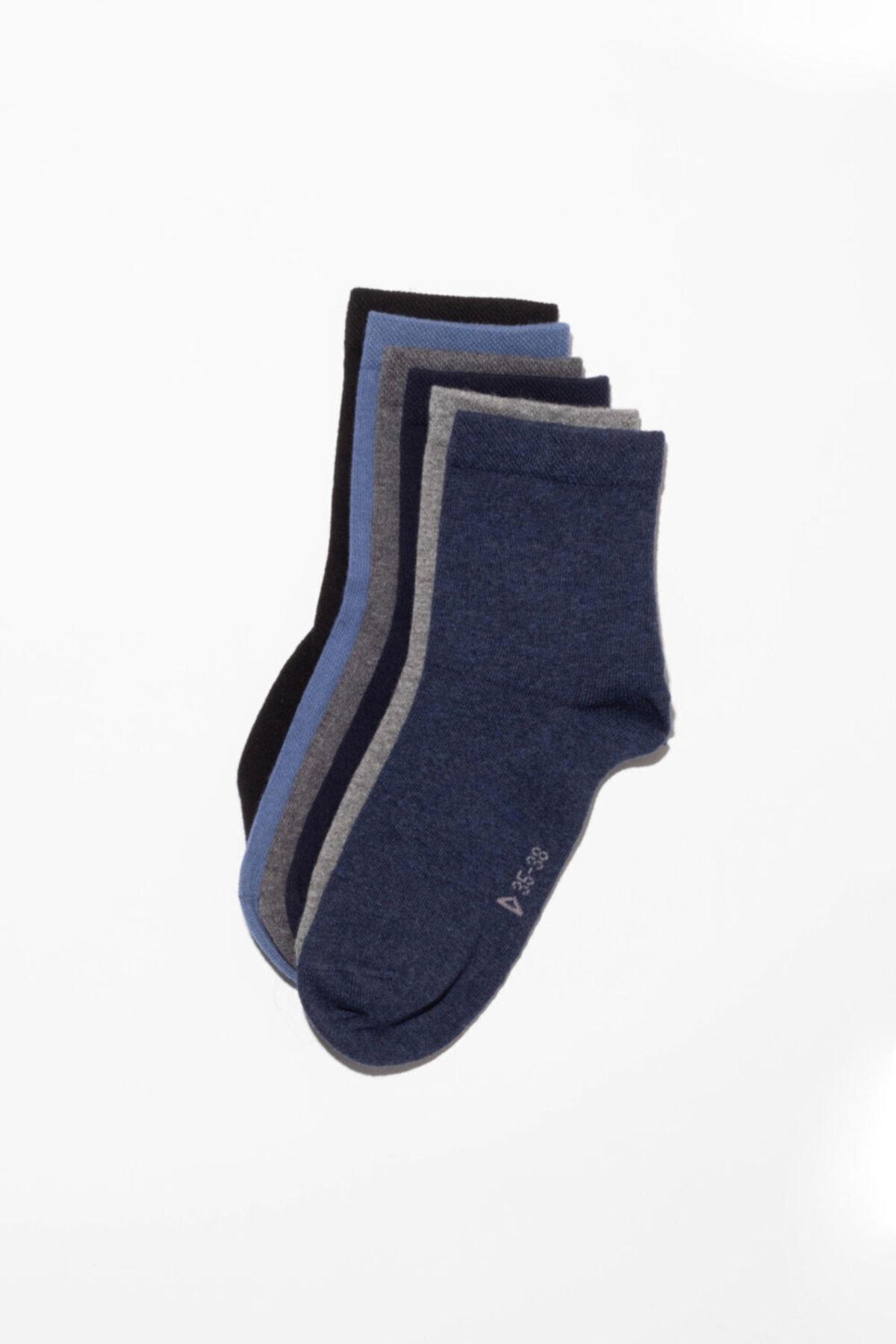 Katia&Bony Unisex 6'Lı Paket Basic Soket Çorap 1