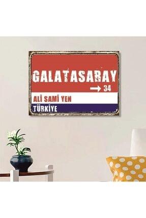 FERMAN HEDİYELİK Galatasaray Tabelası Ahşap Retro Poster 17,5x27,5 Cm