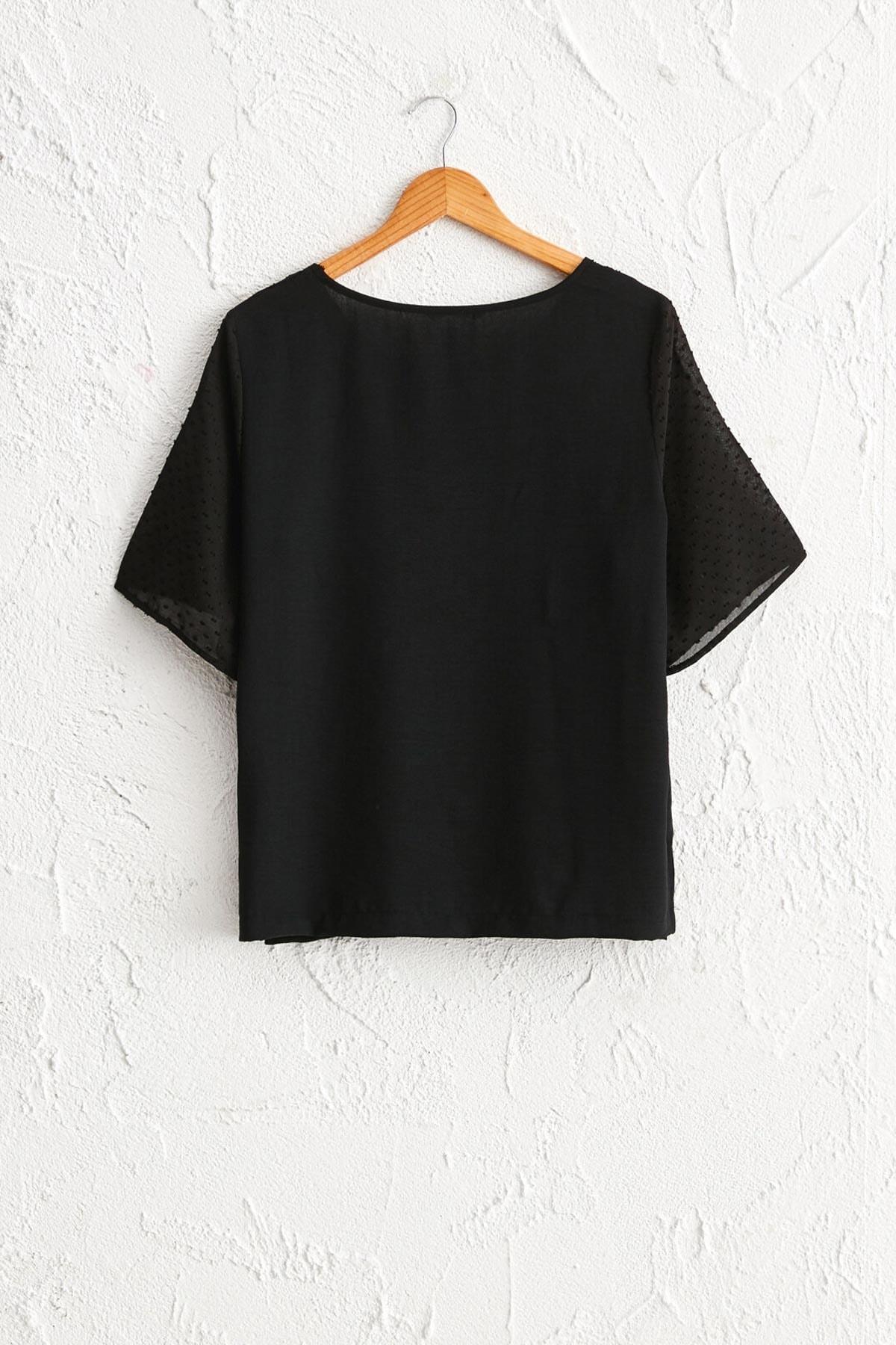 LC Waikiki Kadın Siyah Bluz 0WDI44Z8 2