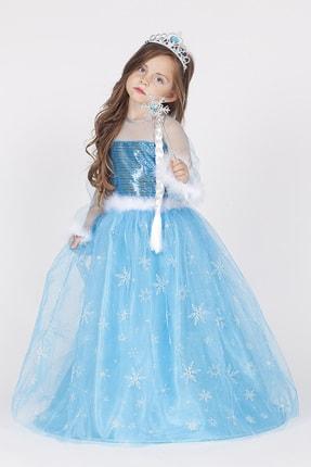 Le Ville Kız Çocuk  Karlar Ülkesi Kraliçesi Elsa Elbise  5804646