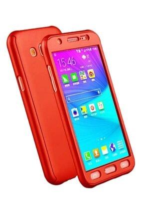 MobilCadde Eiroo Protect Fit Samsung Galaxy Grand Prime / Prime Plus 360 Derece Koruma Kırmızı Rubber Kılıf
