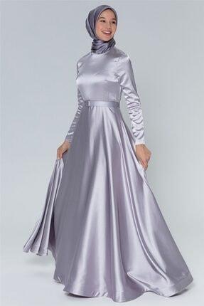 Armine Kadın Gri Abiye Elbise 20y9204