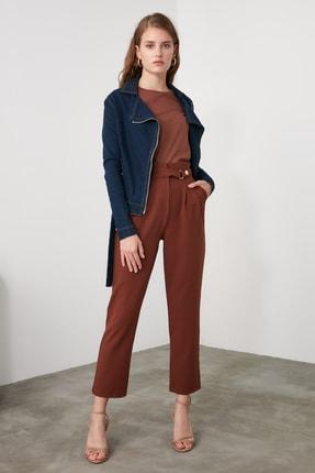 TRENDYOLMİLLA Kahverengi Çıtçıtlı Pantolon TWOSS20PL0131