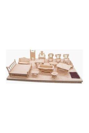 İstoc Trend Ahşap Minyatür Ev Eşyaları Eğitici Oyuncak 184 Parça 37 Mobilya