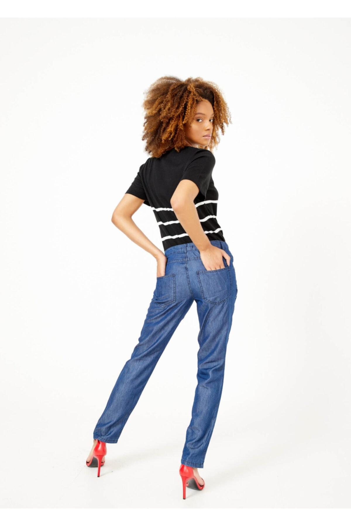 Adze Kadın Indigo Jean Pantalon 2